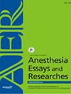 Anesthesia Essays and Researches