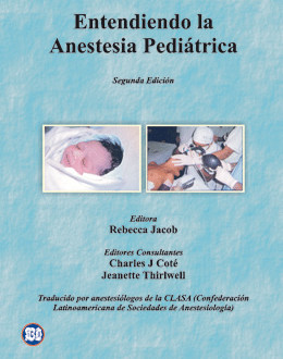 Libro Entendiendo Anestesia Pediatrica