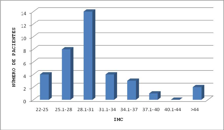 Gráfica 3. Distribución por IMC