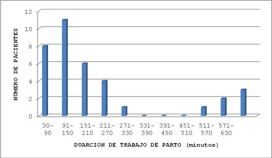 Gráfica 5. Distribución en tiempo (minutos)